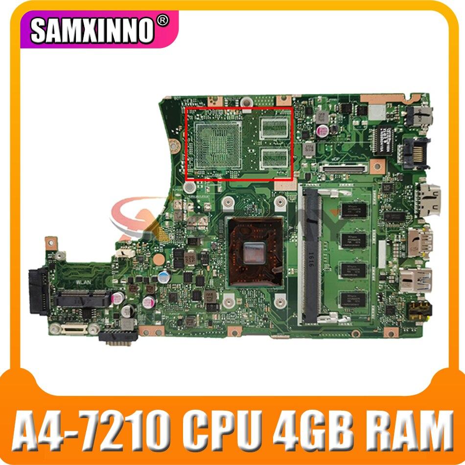 اللوحة الأم X455YI مع وحدة المعالجة المركزية A4-7210 4GB RAM ل Asus X455YI X455Y X455DG X455D اللوحة الأم X455YI اختبار اللوحة الرئيسية 100% ok