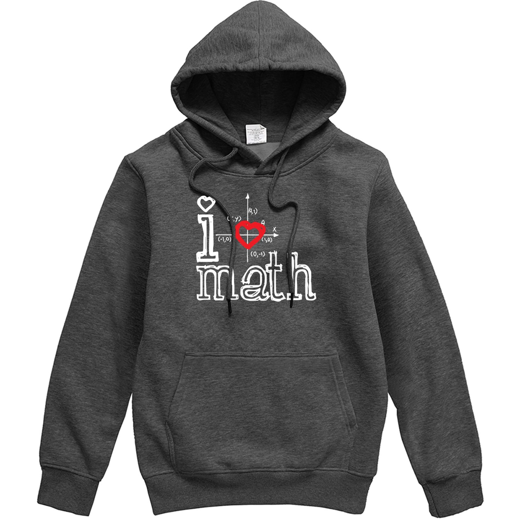 I Love Math Mens Hoodies 2020 Spring Fleece Male Hipster Tracksuit New Brand Street Pullover Men Mathematical Pattern Sweatshirt