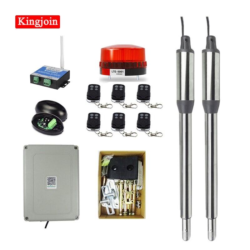 Kit de abridor de doble puerta KINGJOIN PKM-C01, teclado inalámbrico, GSM, número de Control remoto, Flash opcional y puerta inteligente Phototube