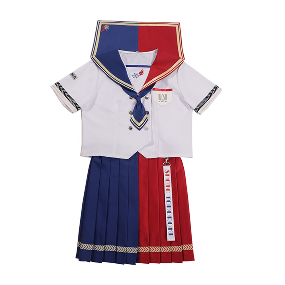Brdwn My Hero Academia Womens Midoriya Izuku Bakugou Katsuki Todoroki Shouto Cosplay Custome JK School Uniform Sailor Suit