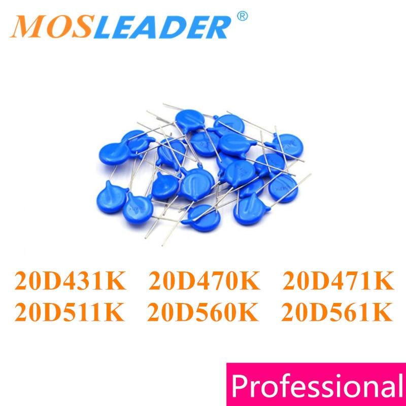 Mosleader 250 stücke 20D431K 20D470K 20D471K 20D511K 20D560K 20D561K DIP Varistor 20D431 20D470 20D471 20D511 20D560 20D561