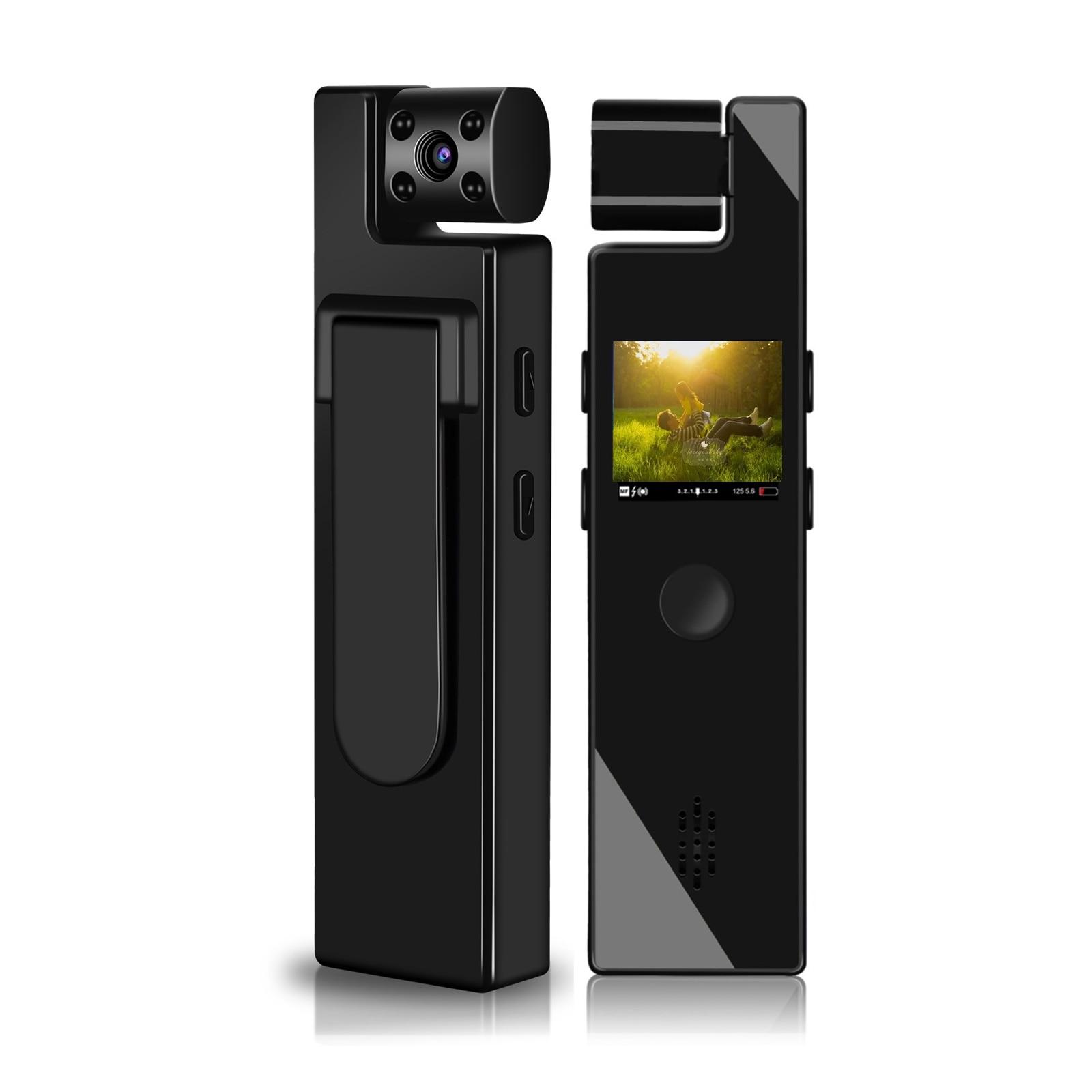 Body Camera Mini Digital Camera HD Screen Night Vision Motion Detection Snapshot Loop Camcorder Spor