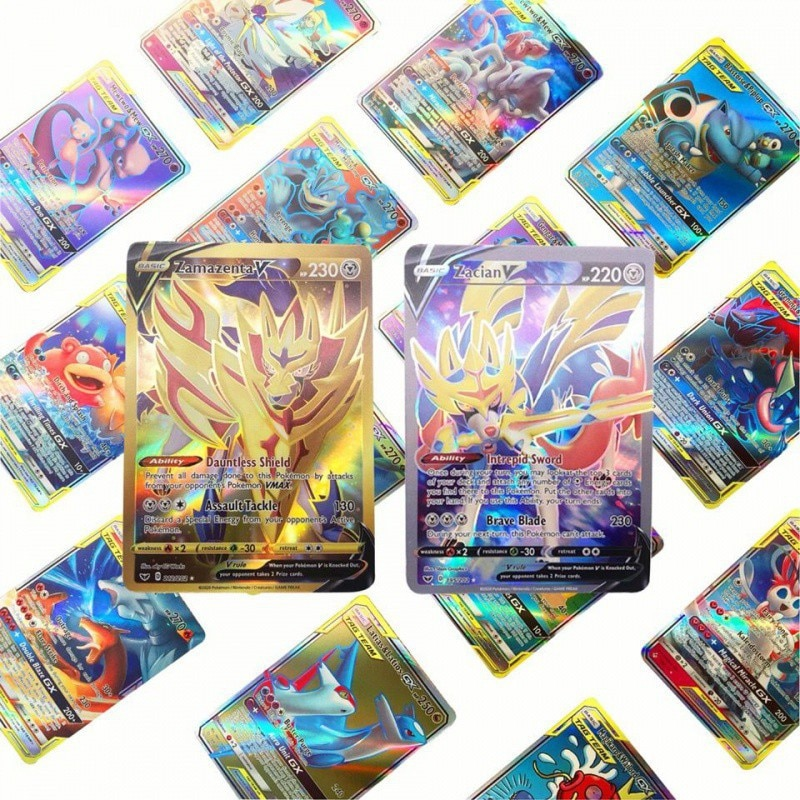 pokemon team up game card pokemon english flash card battle card child game cards english flash cards educational toys 64pcs Pokemon Card Featuring English Version VMAX Card GX Card Flash Card Collection Sword and Shield Card Battle Cards