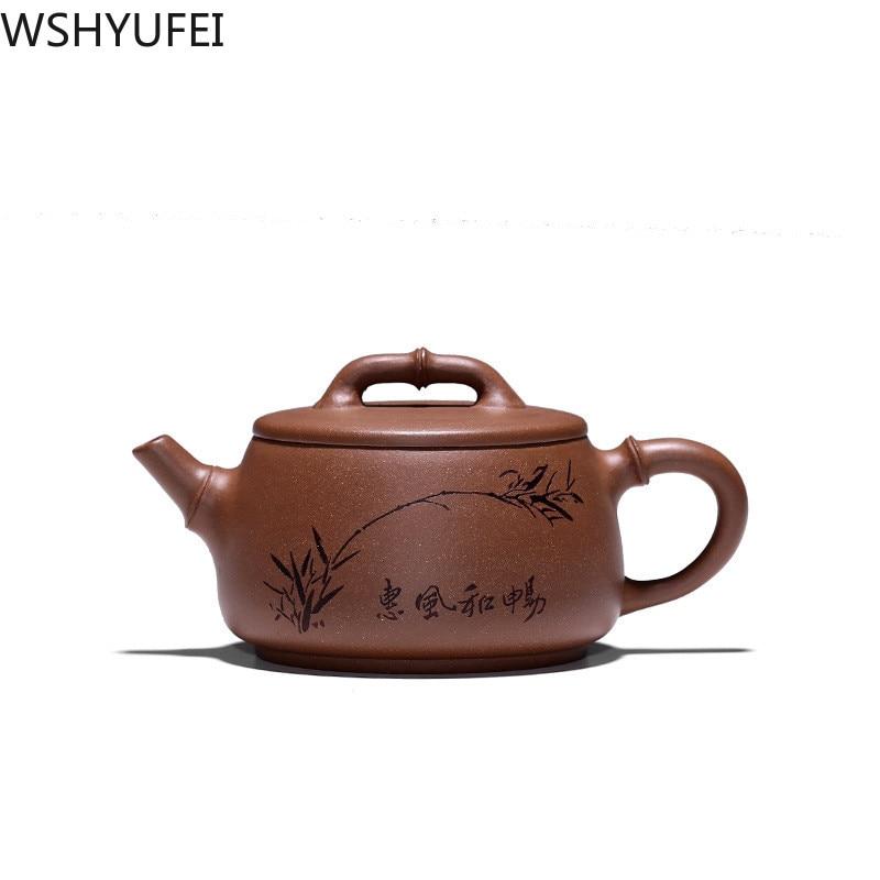 Tetera China Yixing, tetera de piedra de arcilla púrpura, teteras de mineral crudo, juego de té hecho a mano, tetera, filtro de Guanyin, teaware 240ml