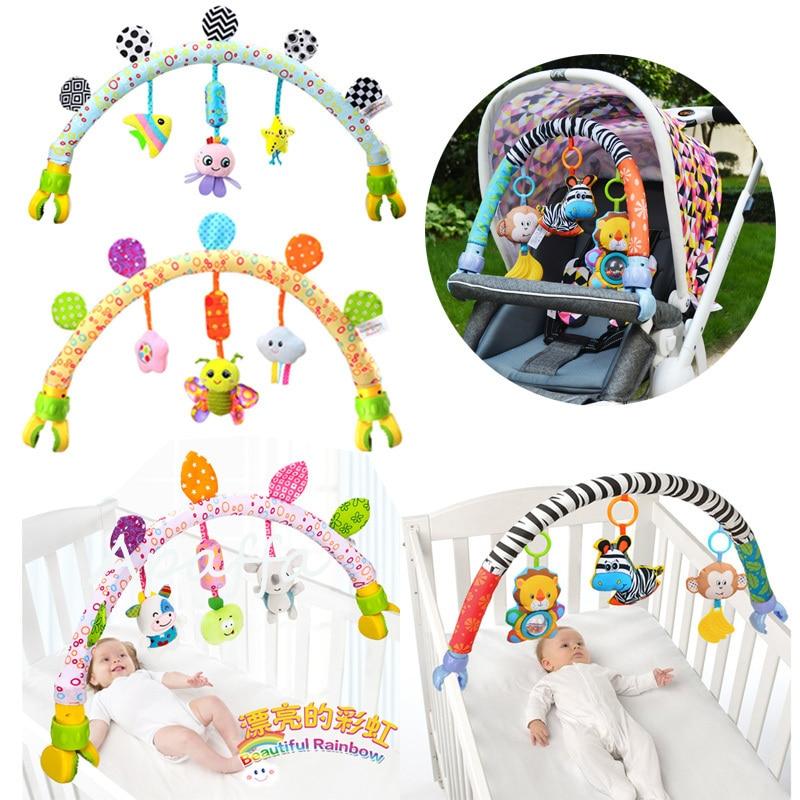 Детские музыкальные мобильные игрушки для кровати/кроватки/коляски плюшевые детские погремушки Игрушки для малышей 0-12 месяцев Детские/Нов...