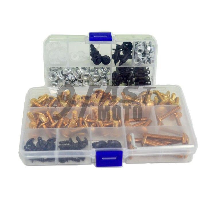 9FastMoto completa de pernos de carenados tornillo Kits para 2002, 2003, 2004, 2005, 2006 Honda CBR125R 02 03 04 05 06