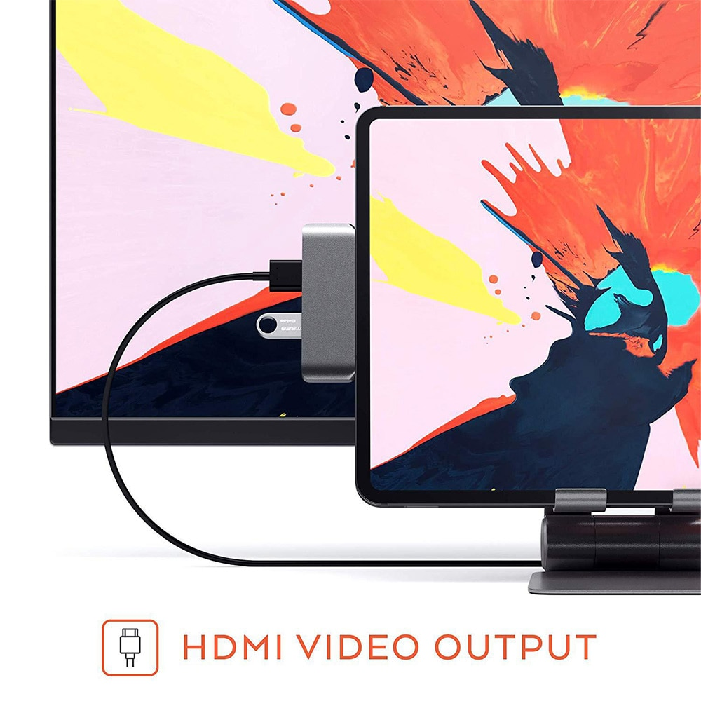 USB C концентратор адаптер для iPad pro 2018 с USB-C TYPE C зарядка PD 4K HDMI USB 3,0 3,5 мм наушники для MacBook Pro удлинитель док-станция