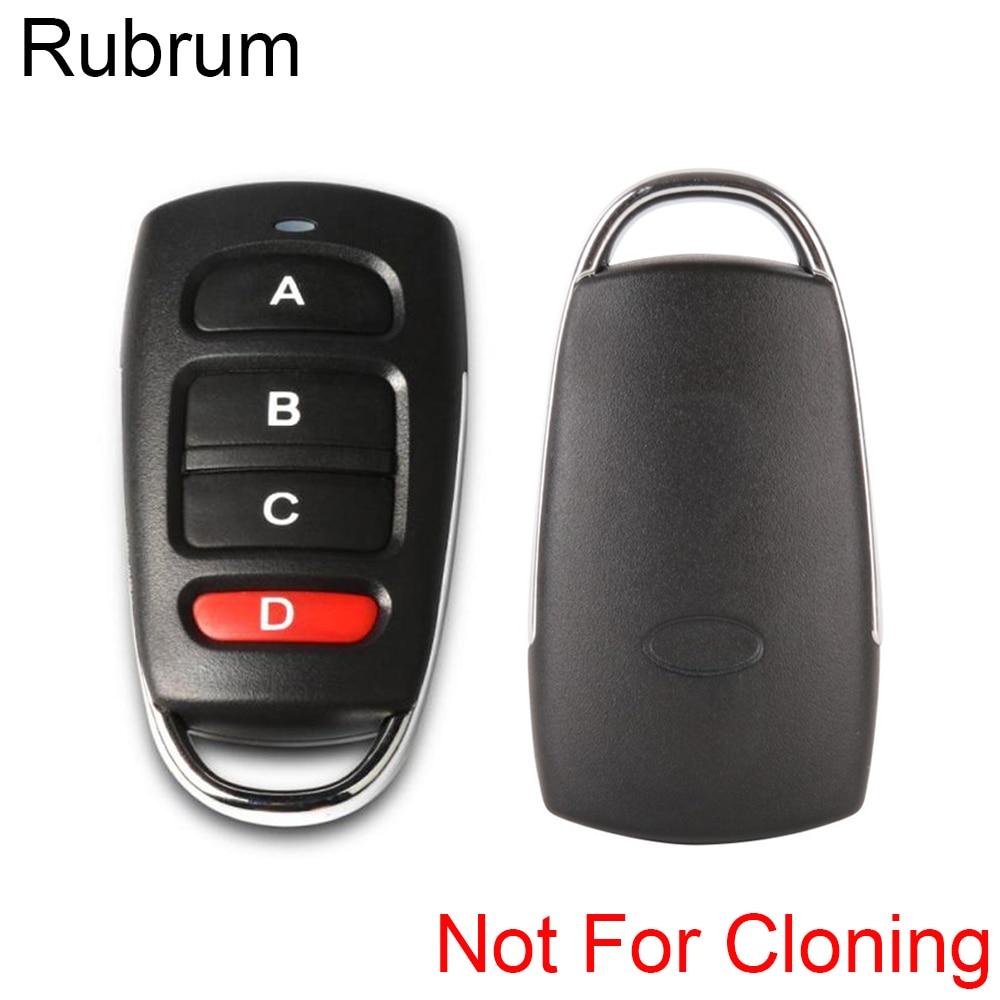 Rubrum Universal 433mhz DC 12V 4 botones aprender RF relé transmisor interruptor de Control remoto para puerta de garaje puerta alarma llave Fob Coche