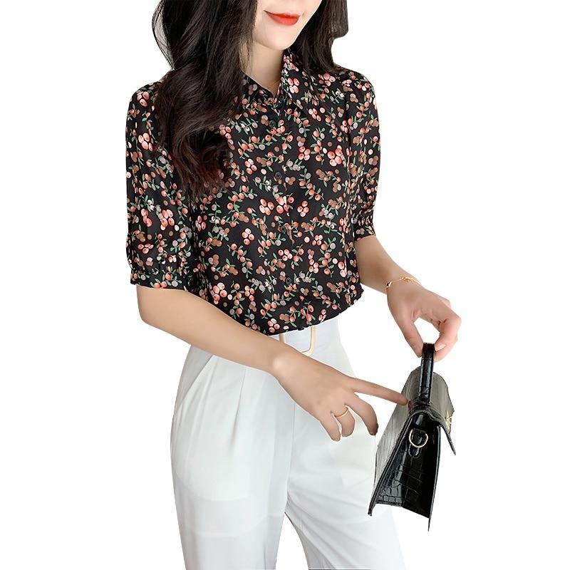 Летние женские рубашки, Повседневная рубашка 2020, женские блузки, модные цветочные рубашки, свободные рубашки с коротким рукавом, Топы Blusa
