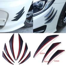6 Pieces Car Body Front Bumper Lip Splitter Spoiler Kits black/ carbon fiber for  Volkswagen vw Golf 1 2 3 4 5 6 7 mk4 mk5 mk6 m
