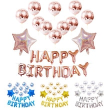 Aluminum Film Sequin Latex Balloon Set Birthday Party Valentines Day Wedding Decoration Baby Shower Anniversary Christmas