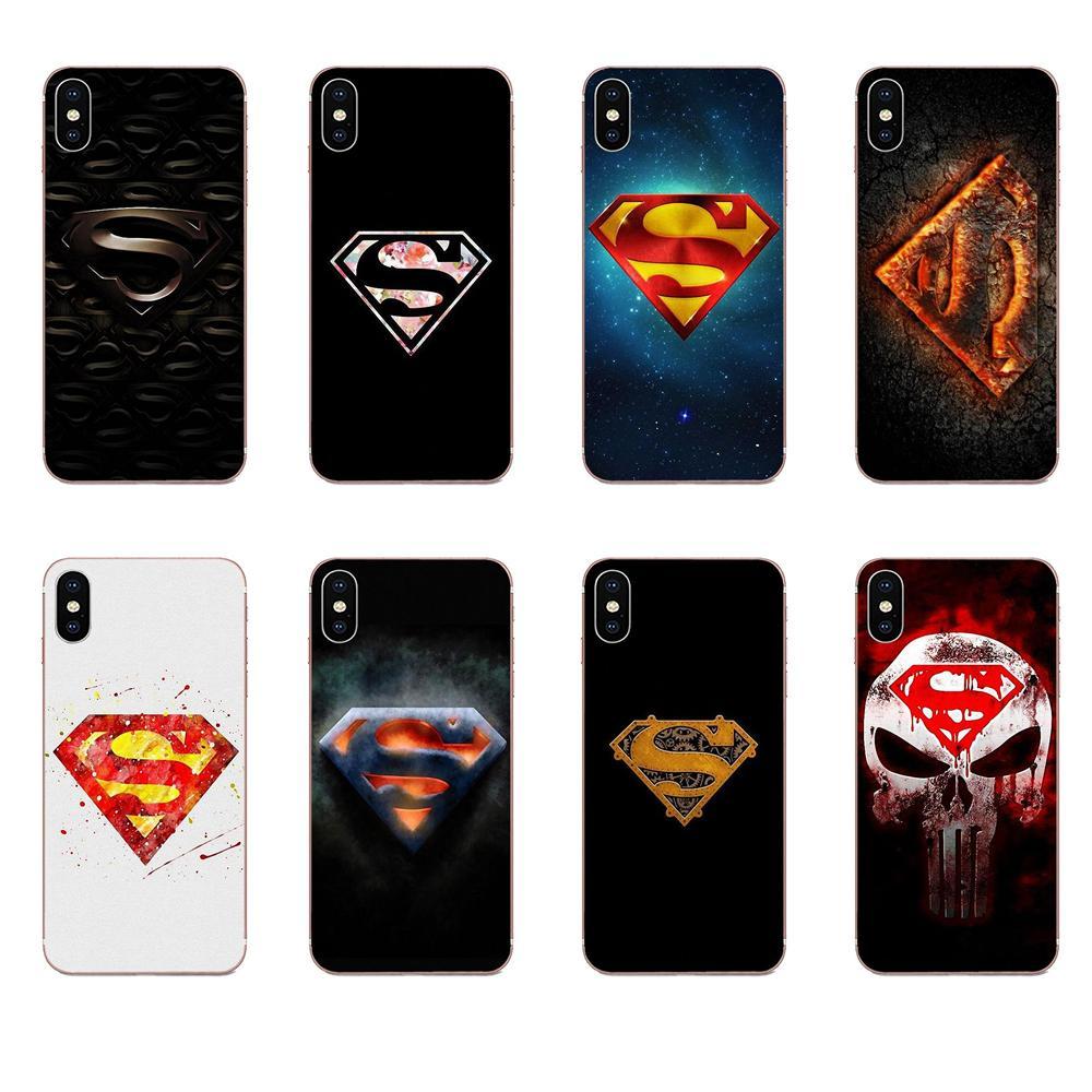 TPU Cobrir Maravilha Herói Homem De Aço Superman Logotipo Louco Para Galaxy J1 J2 J3 J330 J4 J5 J6 J7 J730 J8 2015 2016 2017 2018 mini Pro
