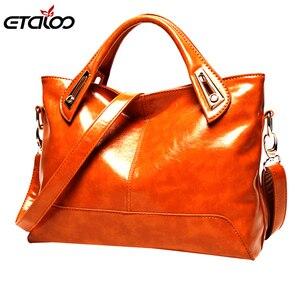Oil Wax Leather Handbags High Quality Shoulder Bags Ladies Handbags Fashion brand PU women bags