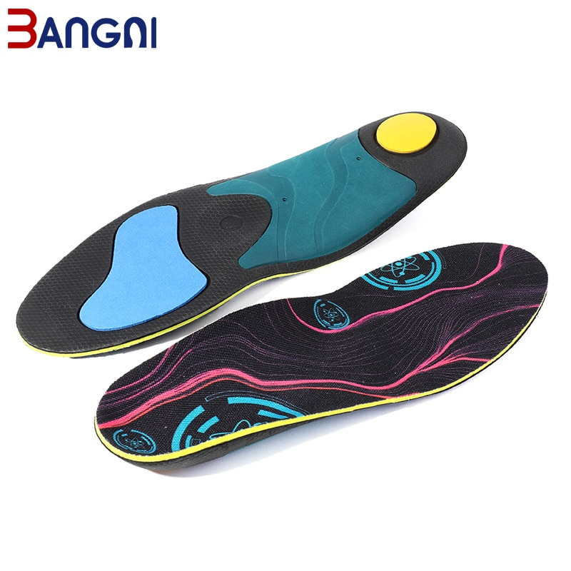 3ANGNI Insoles Orthopedic Arch Support Insole for Flat Feet EVA Shoe Pad Relieve Foot Pain Unisex Orthotic Insole 1 pair flat feet arch support insole silica orthotics superier breathable latex leather insole foot pad