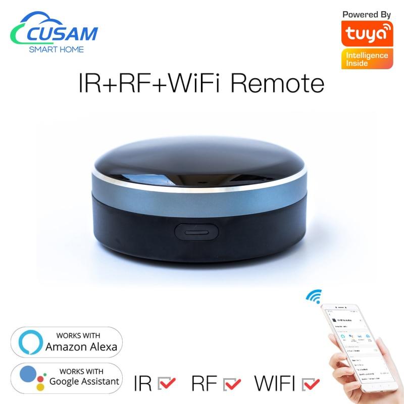 wl irc wifi universal remote control smart remote house control voice smart remote intelligent control Tuya Smart Home WiFi+Bluetooth Module Radio Frequency RF433 Voice Remote Universal Remote Control Infrared Radio Frequency 2021
