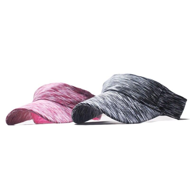 Man Cotton Cap Adjustable For Running Tennis Golf Mesh Breathable Unisex Empty Top Visor Cap Women Sunscreen Hats