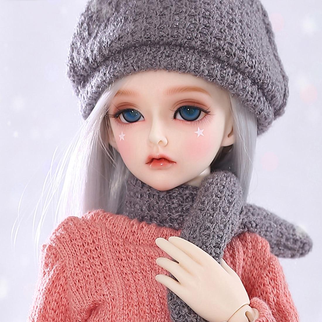 40cm de altura 1/4 muñecas BJD de moda femenina de alta capacidad de juego articulaciones de bolas muñeca conjunto de traje completo con maquillaje y ojos de regalo-Rendia D