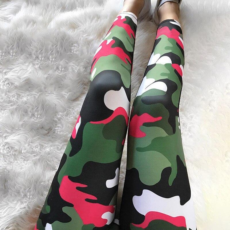 Women Camo Yoga Pants High Waist Camouflage Legging Sport Femme Fitness Sport Women Fitness Leggings Push Up