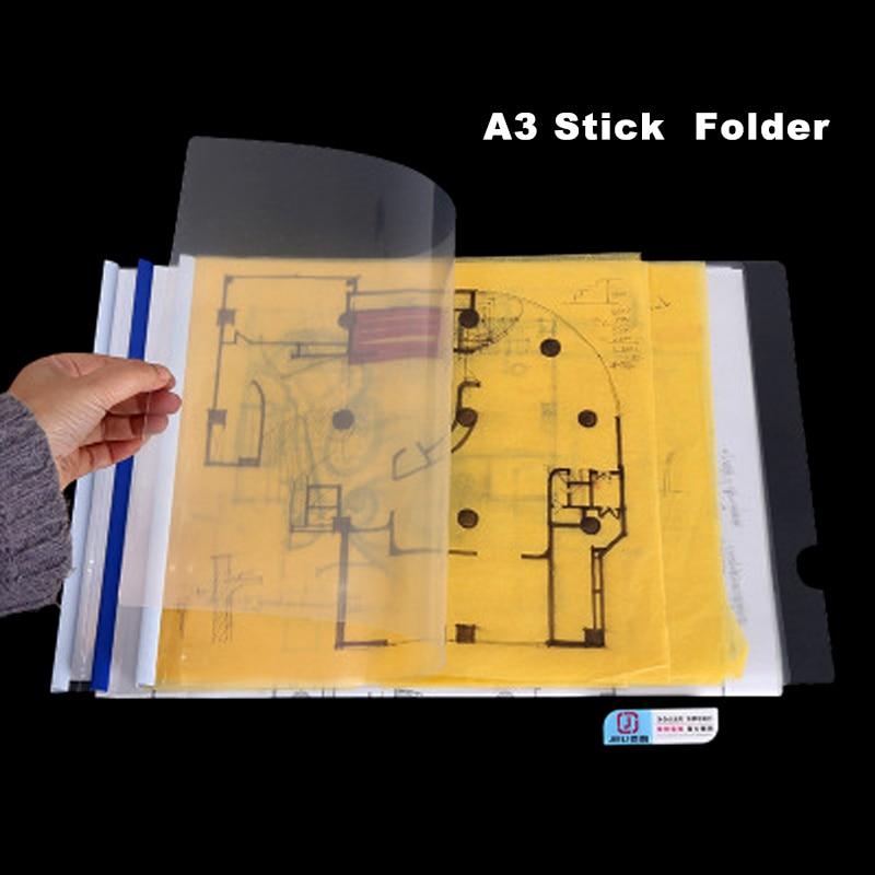 Папка для рисования A3 тестовая бумажная папка для файлов разноцветная папка для слайдов (10 шт.)