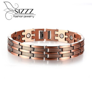Red copper magnetic health European and American style men's bracelet&bangles