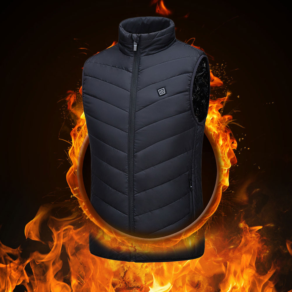 Heating vest washable USB charging heating warm vest three-speed control temperature Maximum temperature 45°C outdoor camping enlarge