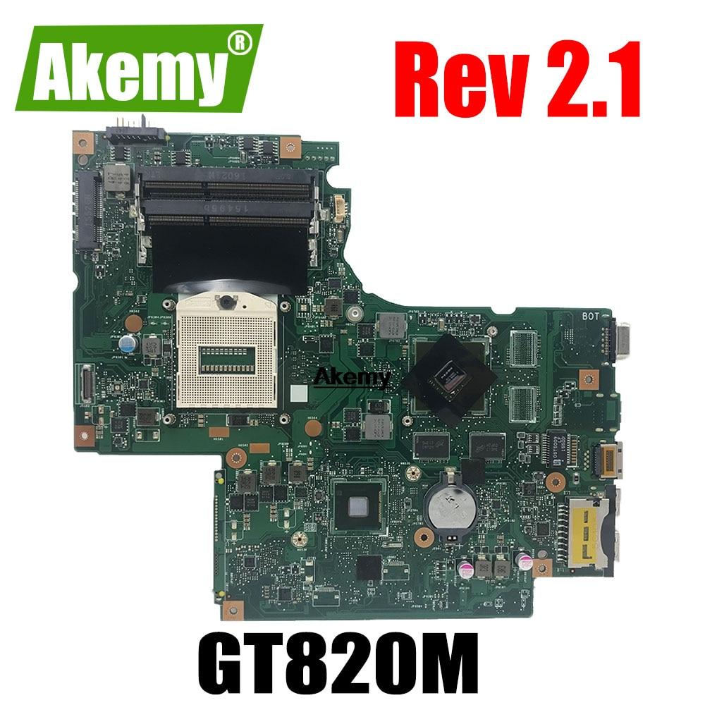 Placa principal DUMBO2 Rev 2,1 para For Lenovo Ideapad Z710 placa base para portátil 17,3 pulgadas GT820m GeForce gráficos 100% probado
