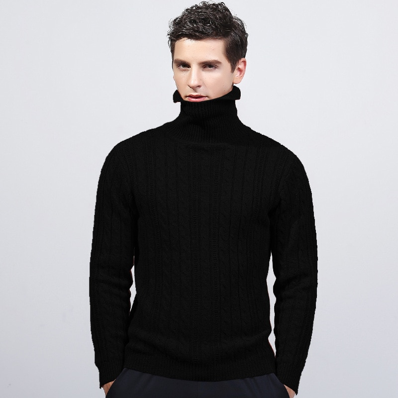 MRMT 2019 marque hiver nouveau corps hommes tricot pull pur coton col haut pardessus pour homme pull vêtements chauds vêtements