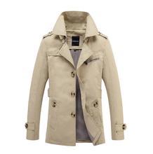Thin mens trench coats man long coat men single-breasted clothes england lapel overcoat long sleeve spring new designer khaki