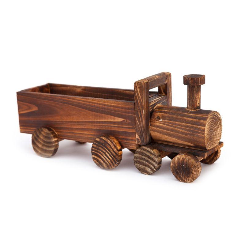 Maceta para suculenta de flores de tren de madera Retro de OOTDTY