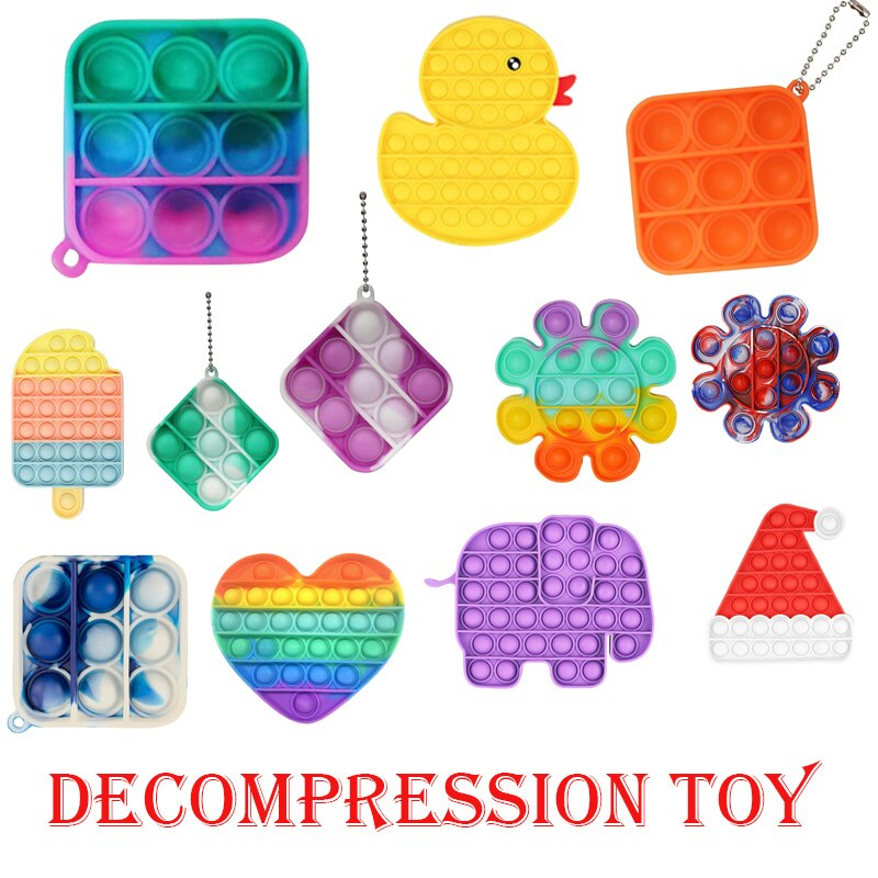 Toys Silicone Autism Special Needs Relieve Toys 1PC Push Bubble Fidget Sensory Toy Autism Special Ne