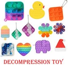 1PC Push Bubble Fidget Sensory Toy Autism Special Needs Stress Reliever Needs Stress Reliever Childr