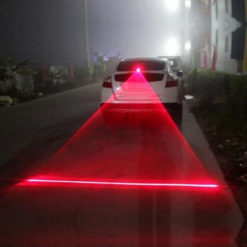 1PC Car Auto LED Laser Fog Light Vehicle Anti-Collision Taillight Brake Warning Lamp Car Parking Brake Light Tail Warning Bulb