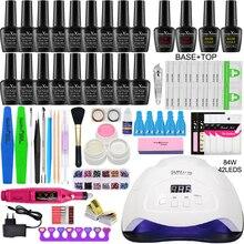 Wählen 18/10 Gel Nagellack Glitter Base Top Coat Primer Set 24/54/84W UV LED Nagel trockner Nagel Gel Lack Maniküre Werkzeuge Kit