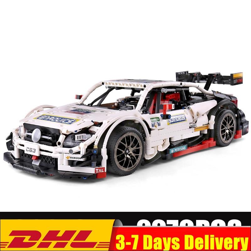 En Stock moule roi MOC 13075 Technic série AMG C63 Sport course voiture modèle blocs de construction briques 6687 enfants jouets cadeaux