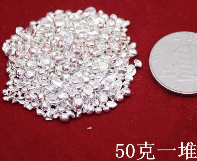 9999 Pure Silver Raw Material Silver Scrap at least order 10g /each polybag