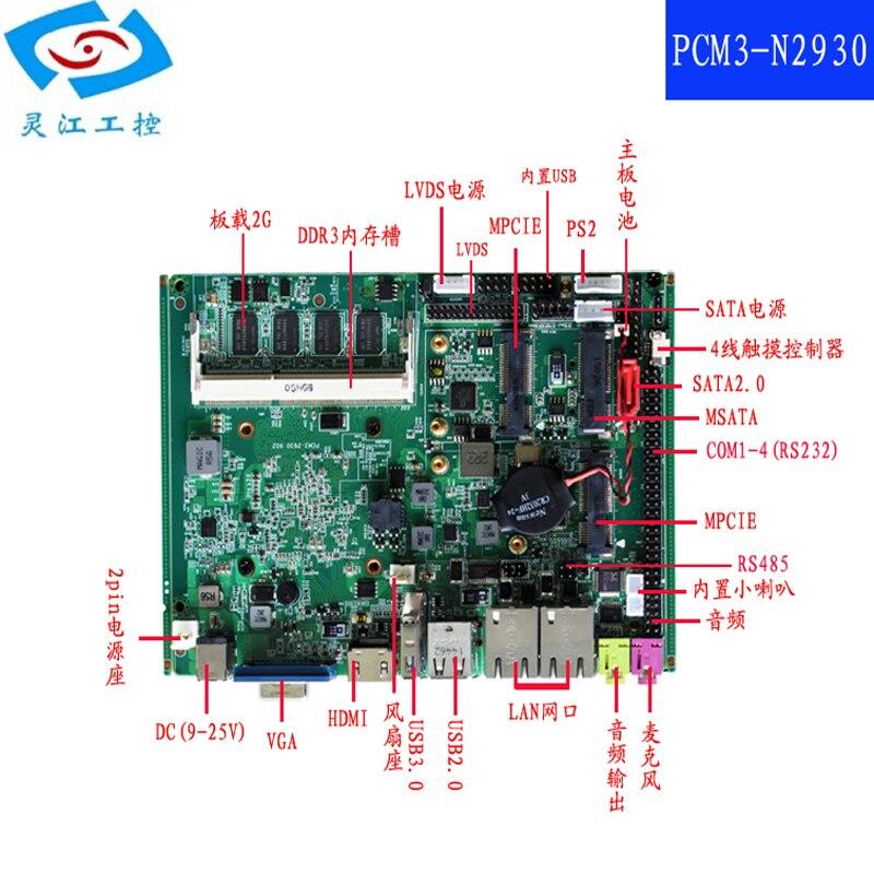ITX procesador de placa base Intel Celeron J1900 placa base Dual LAN mini-pcie soporte WIFI mSATA SATA placa base industrial