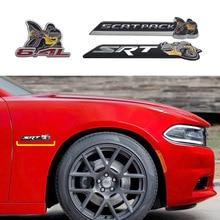 Métal 3D 6.4L SRT SCATPACK Super Abeille Badge Emblème Autocollant Pour JEEP Dodge Chrysler Chevrolet GMC Tronc Côté Corps De Voiture tuning