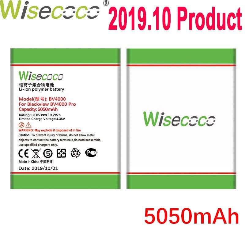 Wisecoco 5050 mah bateria para blackview bv4000 pro celular em estoque mais recente produção de alta qualidade bateria + número de rastreamento
