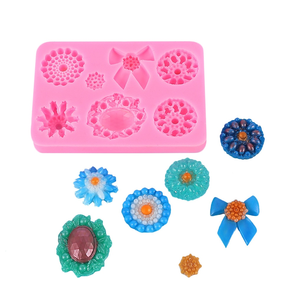 Heart Silicone Mold DIY Fondant Mould Silicone Soap Chocolate Sugarcraft Baking Tool Cake Mold Pastry Fondant Resin Mould недорого