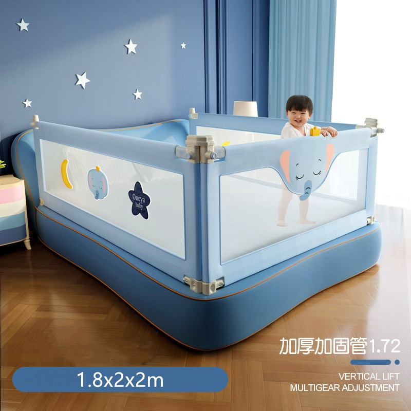 1.2-2.2 m Crib Fence Baby Shatter-Resistant Protective Railing Child Safety Anti-Drop Bed Guardrail Children Security Fencing
