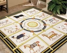 Classique H cheval salon tapis canapé tapis Table basse tapis antidérapant tapis de sol