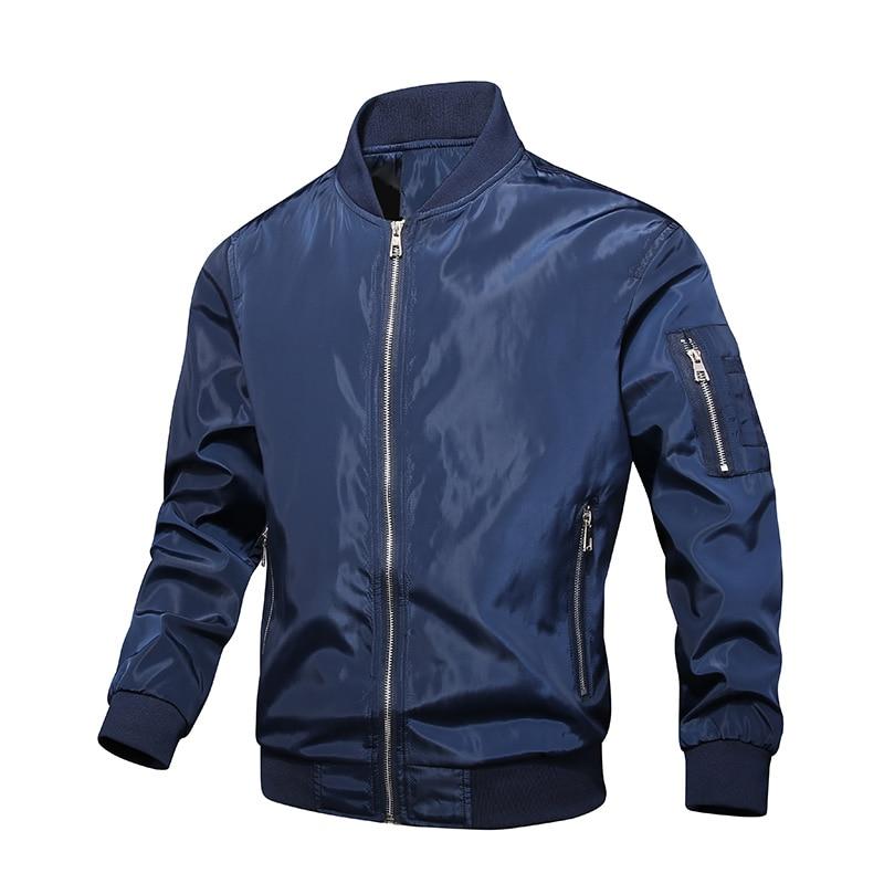 Мужская куртка-бомбер, тонкая бейсбольная куртка с длинным рукавом, ветровка на молнии, мужская куртка-ветровка, верхняя одежда, брендовая о...