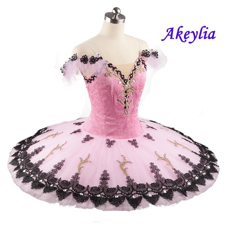 The Nutcracker Professional Ballet Tutu Pink Black Adult Pancake Tutu Sleeping Beauty Performance Classical Ballet Costume Dress недорого