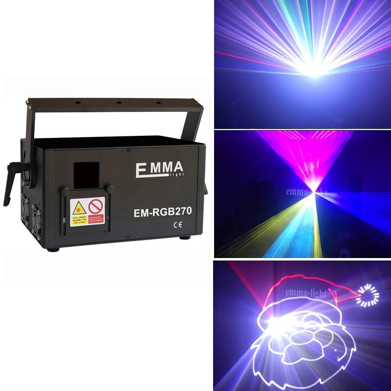 ¡Envío rápido! láser de animación 5000mw rgb DMX512 rgb ILDA 5W Iluminación láser para escenario