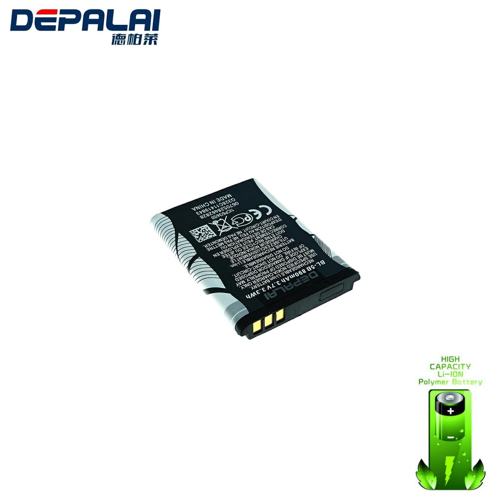 890mAh BL-5B Batterie pour Nokia 3230 5070 5140 5200 5300 5500 6020 6021 6060 6070 6080 6120 6120C 7260 7360 7620 N80 N90 BL-5B