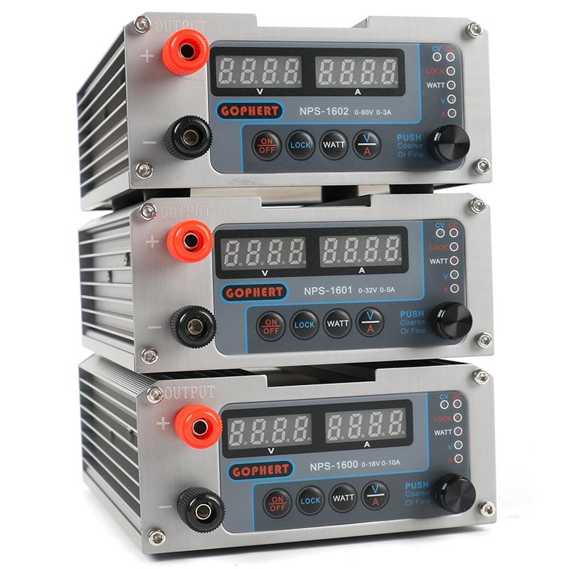 CPS-3205 3205II الرقمية التبديل قابل للتعديل البسيطة DC امدادات الطاقة واط مع قفل وظيفة 0.001A 0.01V 30V 5A 60V 3A 16V 10A 32V
