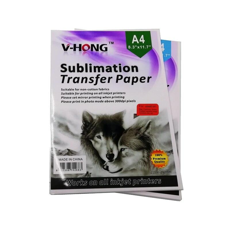 Impressão digital do poliéster da impressão do papel de transferência da sublimação a4 não algodão t-camisa da porcelana copo travesseiro caixa do telefone papel de impressão