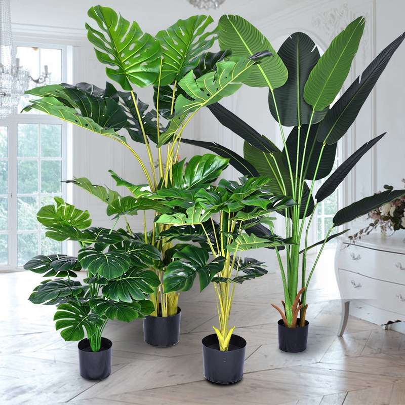 Artificial Plants Tree Decor Areca Palm Tree Fake Indoor and Outdoor Plant Potted Living Room Balcony Green Bedroom Decoration