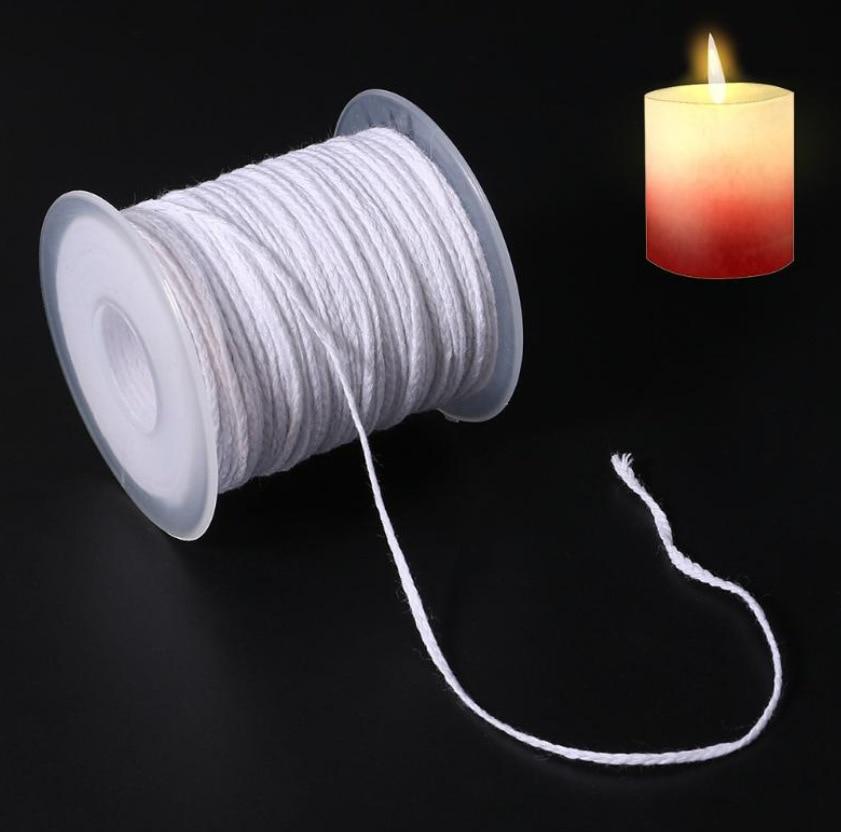 Фитиль для свечей ручной работы, фитиль для свечей из хлопка, 61 метр, 24 нити