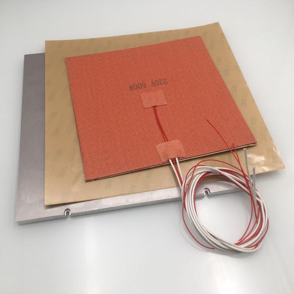 Funssor MIC-6 aluminum Z build Plate Kit 110/220V silicone AC heater pad PEI 3M sheet kit for VORON 2.4 3d printer DIY parts